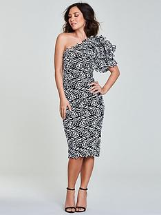 myleene-klass-lace-one-shoulder-pencilnbspdress-mono