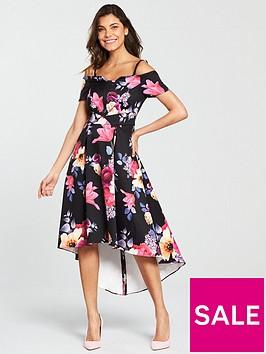 v-by-very-bardotnbspprom-midi-dress--nbspfloral-print