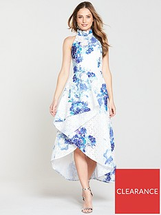v-by-very-premiumnbspprinted-lace-high-low-maxi-dress-bluenbspprint
