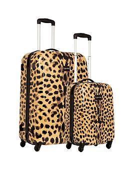 Myleene Klass Myleene Klass 4-Wheel Leopard Print 2 Piece Case