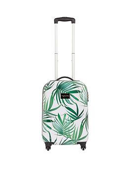 Myleene Klass 4-Wheel Hawaiian Leaf Cabin Case