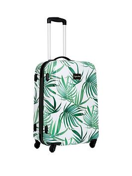 Myleene Klass 4-Wheel Hawaiian Leaf Large Suitcase