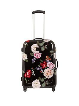 Myleene Klass Myleene Klass 4-Wheel Black Floral Medium Case