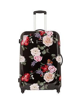 Myleene Klass Myleene Klass 4-Wheel Black Floral Large Case