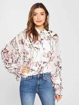 Religion Care Floral Impact Sleeve Shirt