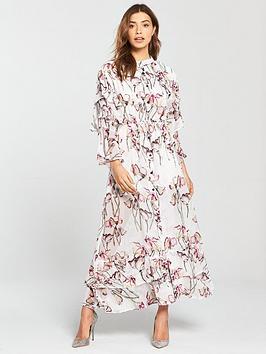 Religion Care Floral Maxi Dress