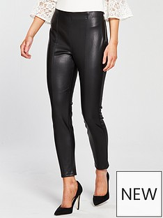 miss-selfridge-petite-pu-side-zip-legging