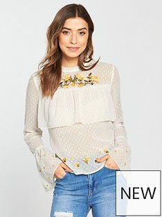 miss-selfridge-embroidered-dobby-tiered-blouse