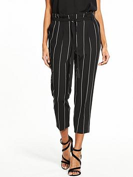 miss-selfridge-pinstripe-paperbag-trouser-blackwhite