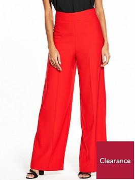miss-selfridge-full-length-wide-leg-trouser-red