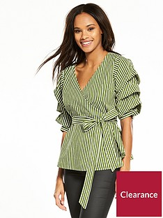 vila-picana-wrap-top-white-stripe