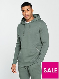 river-island-pique-muscle-fit-hoody