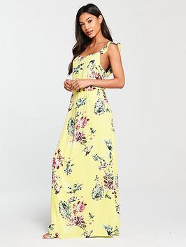 Vila Tetri Floral Printed Maxi Dress - Yellow