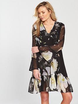 Religion Admire Floral Dress - Black
