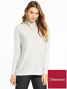 wallis-split-side-popper-knitted-tunic-grey