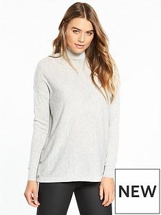 wallis-split-side-popper-knitted-tunic