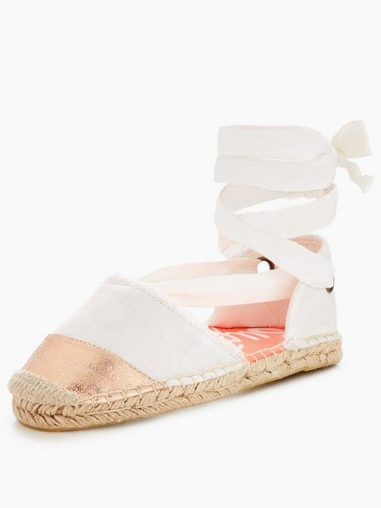 Superdry LOLA LUXE - Espadrilles - offwhite/rose gold