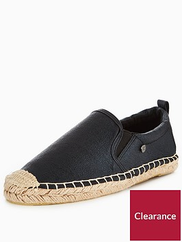 superdry-liora-espadrille-black-crackle