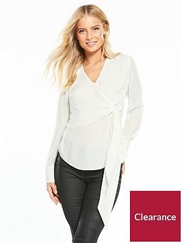 warehouse-wrap-blouse-ivory