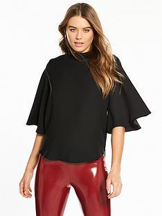 river-island-cape-sleeve-blouse-black
