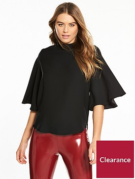 river-island-cape-sleeve-blouse-black