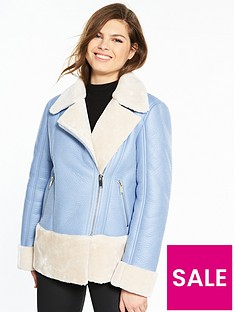 miss-selfridge-biker-jacket-bluenbsp