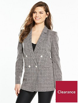 miss-selfridge-check-suit-blazer