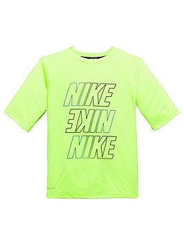 nike-nike-older-boy-half-sleeve-logo-hydroguard-top