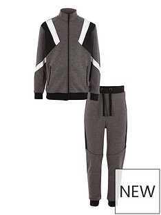 river-island-boys-grey-marl-blocked-tracksuit