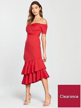 miss-selfridge-scuba-bardot-asymmetricnbsphem-midi-dress