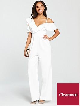 miss-selfridge-scuba-frill-jumpsuit-white