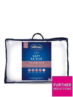 Silentnight Luxury Hotel Soft as Silk Pillow Pair
