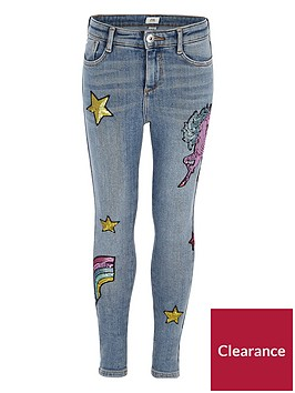river-island-blue-amelie-unicorn-embroidered-jeans
