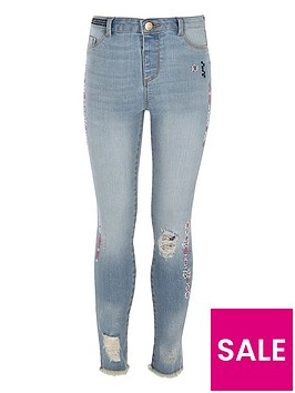 river-island-girls-blue-molly-slim-aztec-print-jeans