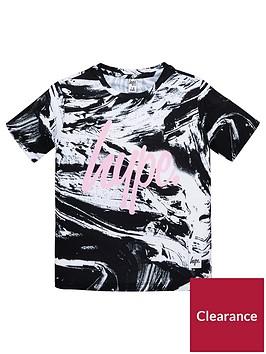 hype-girls-short-sleeved-mono-print-t-shirt