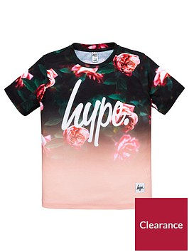 hype-girls-short-sleeved-rose-fade-t-shirt