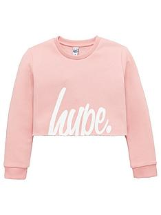 hype-girls-pink-script-cropped-sweat-top