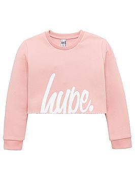 hype-girls-pink-script-cropped-sweat-top