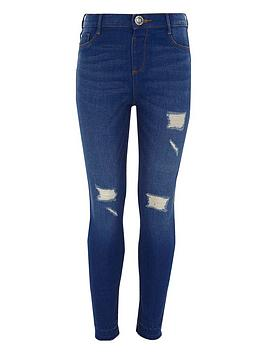 river-island-girls-blue-molly-ripped-skinny-jeggings