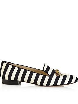 sam-edelman-jill-woven-stripe-flat-shoes--blackwhite