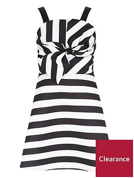 river-island-girls-black-stripe-satin-bow-front-prom-dress