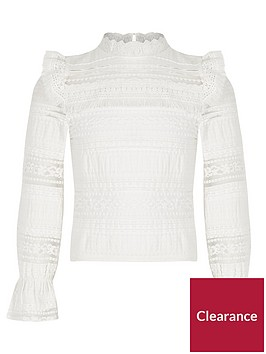 river-island-girls-lace-fringe-long-sleeve-top