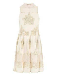 river-island-girls-nude-floral-high-neck-prom-dress