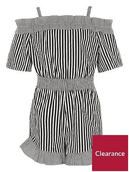 river-island-stripe-bardot-ruffle-playsuit