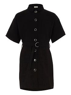 river-island-girls-black-belted-military-shirt-dress