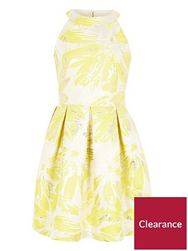 river-island-girls-yellow-floral-jacquard-prom-dress