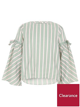 river-island-girls-stripe-bow-bell-sleeve-top