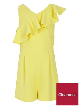 river-island-girls-yellow-asymmetric-frill-playsuit
