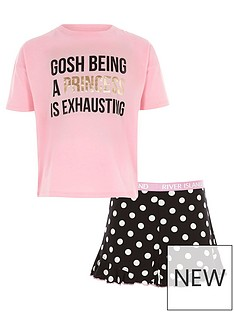 river-island-girls-pink-lsquoprincessrsquo-print-pyjama-set