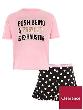 river-island-girls-pink-lsquoprincessrsquo-print-pyjama-set